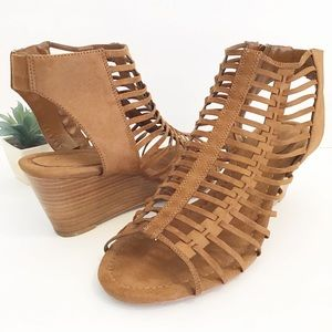 TORRID Strappy wedge sandals size 12 Wide